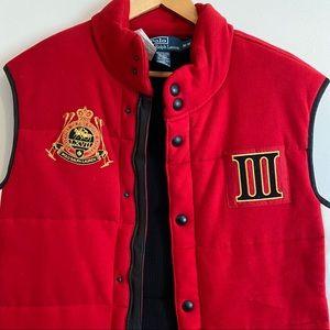 Polo Ralph Lauren Red Italia Puffer Vest LIKE NEW!